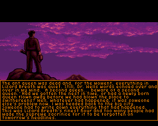 Ending For It Came From The Desert Amiga