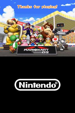 Ending for Mario Kart DS(Nintendo DS)