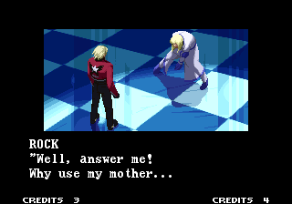 Ending For Garou Mark Of The Wolves Rock Good Ending Neo Geo Rock has appeared in several games since his debut in garou, and he even acquired some cool new moves over time. www vgmuseum com