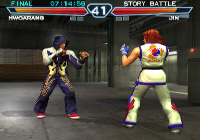 Ending For Tekken 4 Hwoarang Sony Playstation 2