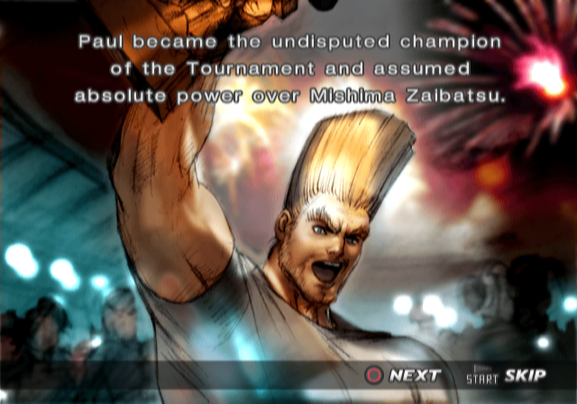 Ending For Tekken 4 Paul Sony Playstation 2