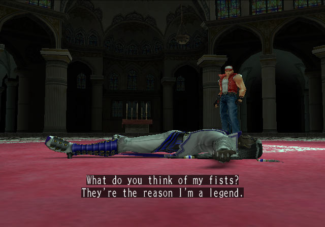 Ending For King Of Fighters 2006 Terry Bogard Sony Playstation 2 Mark of the wolves and the king of fighters series. www vgmuseum com
