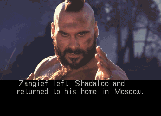 Ending For Street Fighter The Movie Zangief Sony Playstation