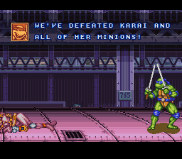 Ending for TMNT: Tournament Fighters-Story Battle Good End