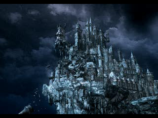 Camera Begins To Circle The Castle As We Zoom In Towers On End Of Clock Tower Begin Collapse Signaling Submerging Castlevania