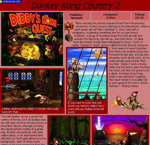 Donkey Kong Country 2 Music Soundtrack