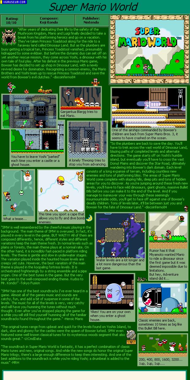 Great Super Nintendo Soundtracks