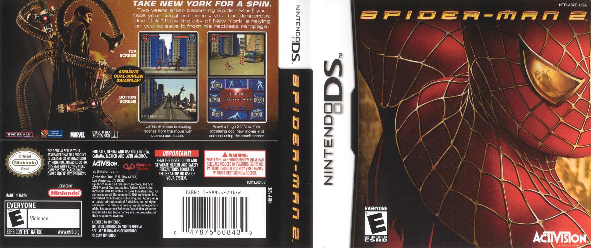 Spiderman 2 Ds Furtyop