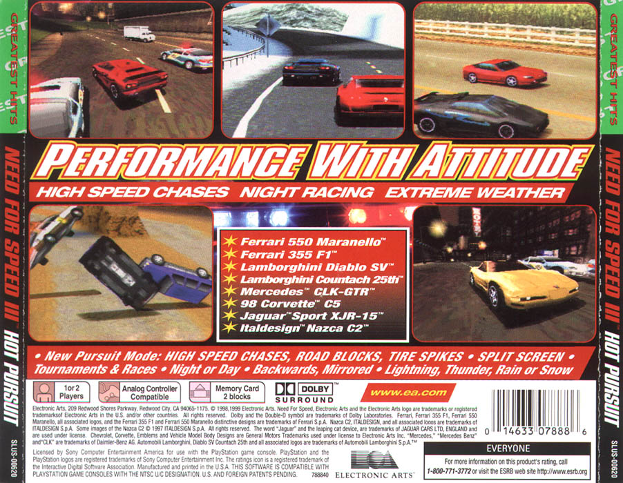 'Need for Speed III - Hot Pursuit [PSX]' width=902