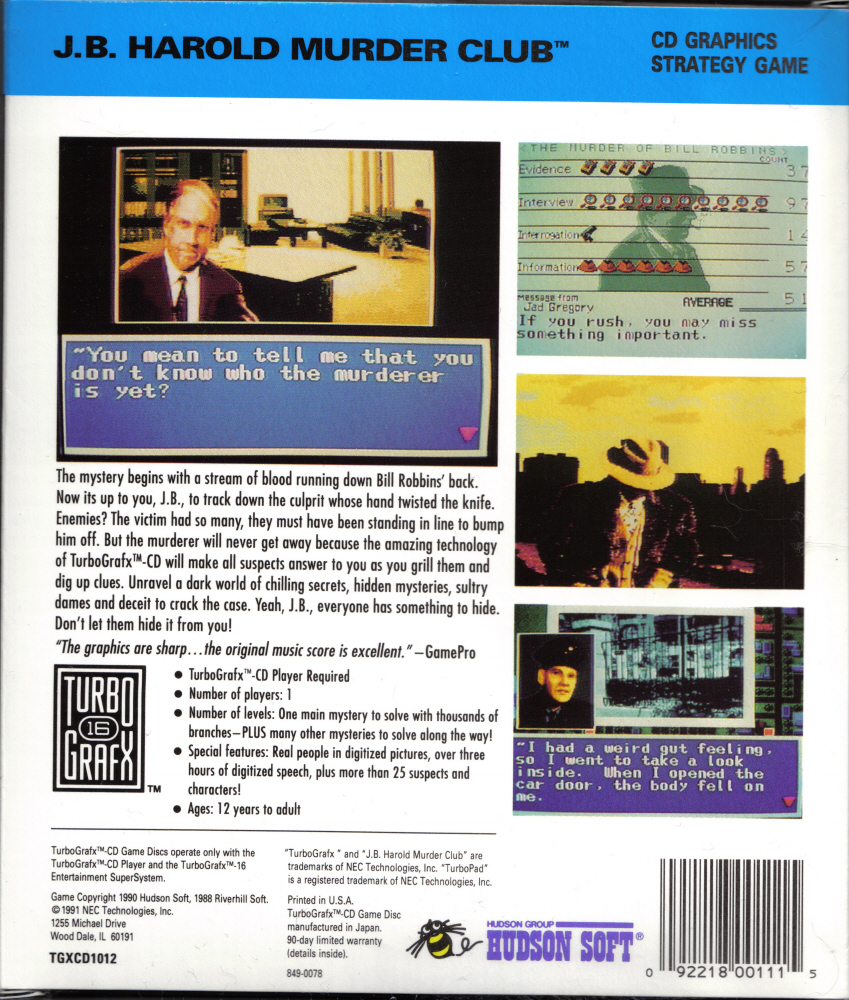 The Video Game Museum - Turbo Duo Scans