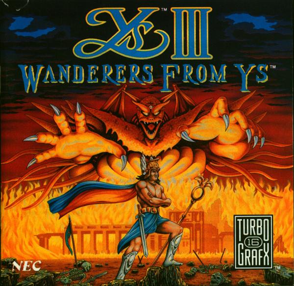 Ys I-II Ancient Ys Vanished (J) (Front) (Back)